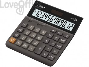 Calcolatrice da tavolo CASIO display 12 cifre - solare e batteria 151x32x158 mm DH-12BK