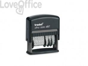 Timbro polinome - datario TRODAT PRINTY ECO 4817 in plastica con 12 tasti commerciali nero - 78764