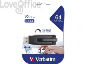 Chiavetta USB 3.0 V3 Verbatim 64 GB 49174