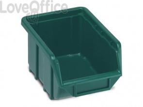 Sistema di contenitori sovrapponibili TERRY Eco Box 111 verde 1000434