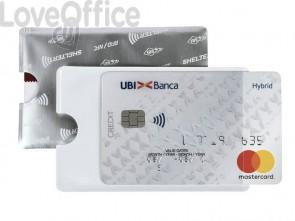 Porta credit card Sei Rota Shelter-S 1 foglietti allum/trasparente -486202