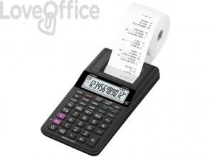 Calcolatrice scrivente CASIO display a 12 cifre - alimentazione rete o batteria 8,2x10,2x23,9 cm - HR-8RCE-BK blister