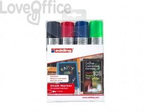 Marcatori a gesso liquido edding 4090 punta scalpello 4-15 mm assortiti - 4-4090-4999 (conf.4)
