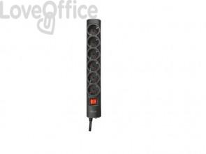 Multipresa a 6 porte con interruttore Trust Surge Protector 1.8 m nero 21061