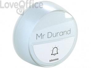 Pulsante aggiuntivo senza fili bticino per kit campanello Comfort bianco 393018D
