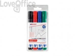 Marcatori per lavagne bianche edding 660 punta conica 1,5-3 mm assortiti - 4-660-4 (conf.4)