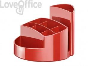 Portapenne RONDO HAN in polistirolo con 9 scomparti rosso 17460-17