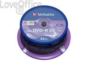 DVD-R Double Layer Verbatim 8.5 GB  in confezione da 25 dvd-r - 43757