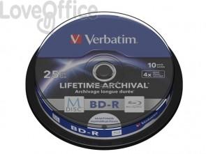 Blu-Ray BD-RE M-Disk Verbatim 25 GB  in confezione da 10 blue-ray - 43825