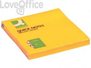 Foglietti riposizionabili Q-Connect 70 g/m² arancio neon 76x76 mm 6 blocchetti da 75 ff - KF10517