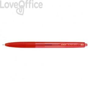 Penna a sfera a scatto Super Grip G punta XB rosso 1732