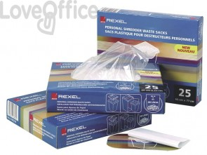 Sacchetti di plastica per distruggidocumenti Rexel AS 115 L conf. da 100 - 40070