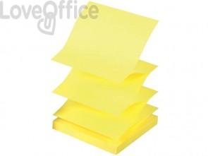 Foglietti riposizionabili a fisarmonica Q-Connect Z-Notes 70 g/m² giallo neon 76x76 mm  6 blocc. da 100 ff - KF16575