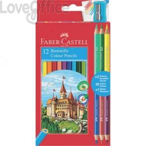 Matite colorate Faber-Castell Eco Il Castello - 110312 (Conf. 12 + 3 Bicolor)