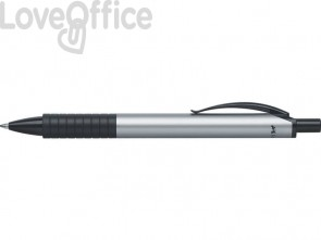 Penna a sfera a scatto Faber-Castell Basic M argento 143411