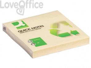 Foglietti riposizionabili Q-Connect 100% materiale riciclato 65 g/m² giallo 76x76 76x76 mm  12 blocc. da 100 ff - KF05609