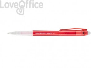 Penne gel cancellabili Paper Mate Erasable M 0,7 mm Rosso (conf.12)