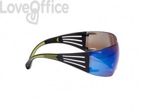 Occhiali di protezione 3M blu specchiato  SF408AS