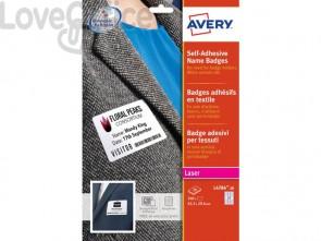 Badge adesivi in seta acetata AVERY 63,5x29,6mm 20 fogli