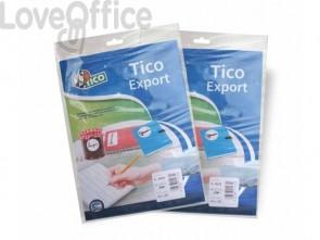 Etichette scrivibili a mano TICO 23x18 mm bianco 10 fogli - E-2318