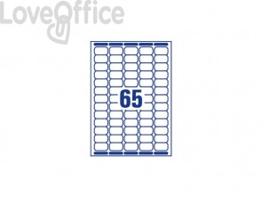 Mini etichette bianche per indirizzi AVERY 38,1x21,2 15 fogli - L7651-15
