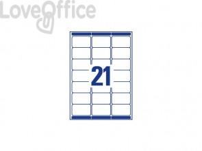 Etichette bianche per indirizzi AVERY 63,5x38,1mm 15 fogli - L7160-15