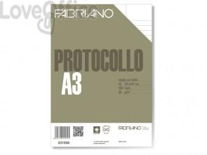 Fogli protocollo Fabriano PROTOCOLLO bianco 60 g/m² 29,7x42 cm rigato uso bollo - 02310560 (conf. 200 fogli)