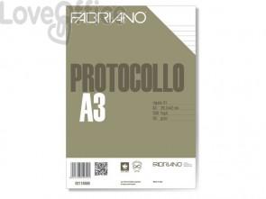 Fogli protocollo Fabriano PROTOCOLLO bianco 60 g/m² 29,7x42 cm rigato a 31 conf. da 200 fogli - 02110560