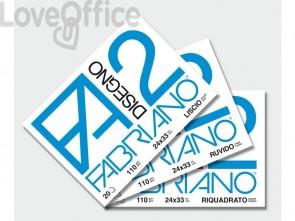 Album da disegno Fabriano F2 - Liscio - a punti metallici 110 g/m² 20 24x33 cm