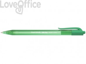 Penna a sfera a scatto Paper Mate Inkjoy 100 RT ULV M 1 mm verde S0957060