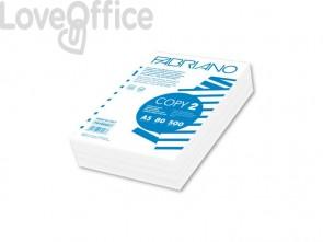 Carta per fotocopie A5 Fabriano COPY 2 risma da 500 fogli bianco 14,8x21 cm 80 g/mq