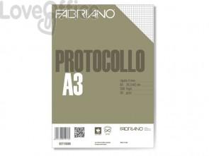Fogli protocollo Fabriano PROTOCOLLO bianco 60 g/m² 29,7x42 cm rigato a 4 mm conf. da 200 fogli - 02710560