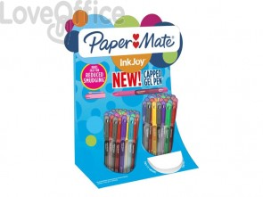 Penne Paper Mate InkJoy Gel 600 Stick M 0,7 mm assortiti - 2036161 (espositore da 60 pezzi)