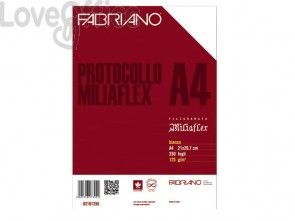 Fogli protocollo Fabriano PROTOCOLLO bianco 125 g/m² 21x29,7 cm uso bollo conf. da 250 fogli - 02101256