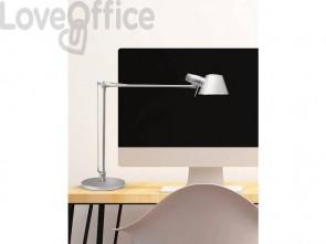 Lampada da scrivania MAUL a risparmio energetico MAULrock con morsetto metallo argento E27 15 W - 8234195