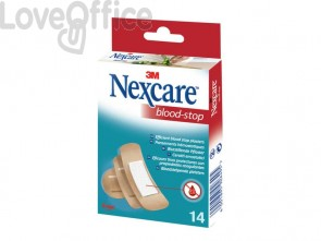 Cerotti Nexcare Blood Stop assortiti in 3 misure assortiti Conf. 14 cerotti - N1714AS