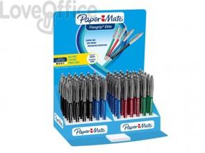 Penne a sfera a scatto Paper Mate Flexgrip Elite L 1,4 mm assortiti (espositore da 60 pezzi)