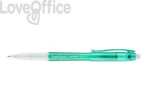 Penne gel cancellabili Paper Mate Erasable M 0,7 mm Verde (conf.12)