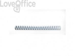Dorsi plastici a 21 anelli GBC CombBind 28 mm a4 bianco conf da 50 dorsi - 4028203