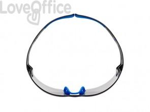 Occhiali di protezione 3M blu/grigio  SF407SGAF-BLU