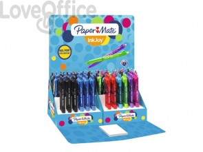 Penne a sfera a scatto Paper Mate InkJoy 300 RT ULV M 1 mm assortiti espositore da 150 pezzi - 1863804