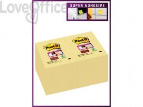 Foglietti riposizionabili Post-it® Super Sticky Notes 4,8x7,3 cm 90 ff Giallo Canary™ - 656-12SSCY-EU