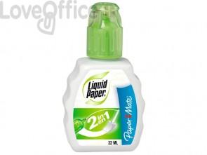 Correttore a flacone Liquid Paper 2in1 22 ml 2037845