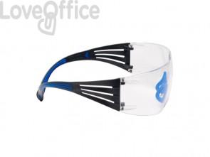 Occhiali di protezione 3M blu/grigio  SF401SGAF-BLU