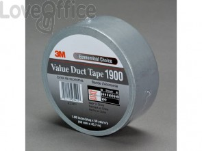 Nastro adesivo telato 3M Value Duct Tape argento 1900
