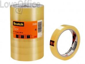 Nastro adesivo Scotch® 508 in torre 19 mm x 66 m trasparente - 508-1966 (8 rotoli)