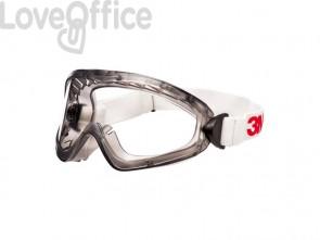 Occhiali di protezioni a mascherina 3M lenti trasparenti in acetato 2890SA