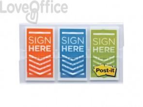 Segnapagina removibili Post-it® Index Medium assortiti 4 cf. da 50 fogli + 2 confezioni Freccia - 682-SH-OBLEU