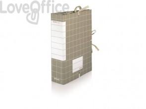 Cartella per archivio con lacci rivettati Centro Class BREFIOCART dorso 20 cm 25x35 cm grigio - RES0201-20
