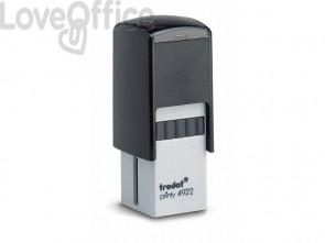 Timbro autoinchiostrante Trodat PRINTY 4922 in plastica 20x20 mm nero 69666